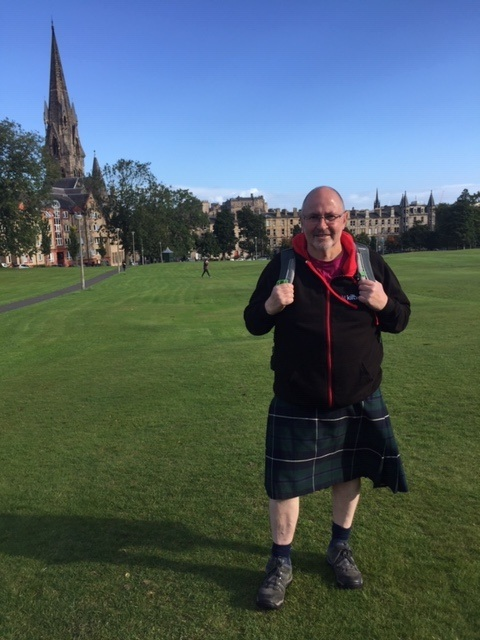 About to Stride off on another Kiltwalk adventure.